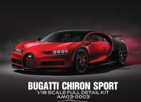 Bugatti Chiron SPORT Red Black 1/18 Vehicle Model KIT   stavebnice