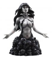 Vampirella Atop The Skulls Base Underworld Black & White Bust