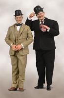 Laurel & Hardy In Classic Suits Sixth Scale Collectible Figure Set (2-Pack)