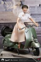 Audrey Hepburn AKA Princess Ann & 1951 Vespa 125 Motor Bike The Roman Holiday  Quarter Scale Statue Set